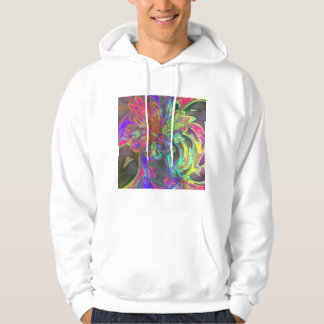 Bright Burst of Color – Salmon & Indigo Deva Hoodie