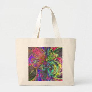 Bright Burst of Color – Salmon & Indigo Deva Jumbo Tote Bag