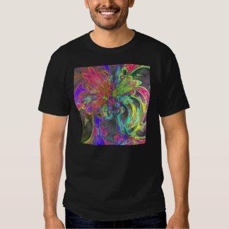 Bright Burst of Color – Salmon & Indigo Deva T-shirt