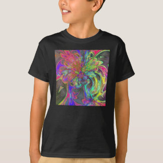 Bright Burst of Color – Salmon & Indigo Deva T-Shirt