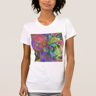Bright Burst of Color – Salmon & Indigo Deva T Shirt
