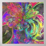 Bright Burst of Colour – Salmon & Indigo Deva Poster