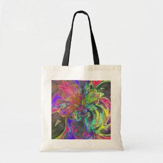 Bright Burst of Colour – Salmon & Indigo Deva Budget Tote Bag