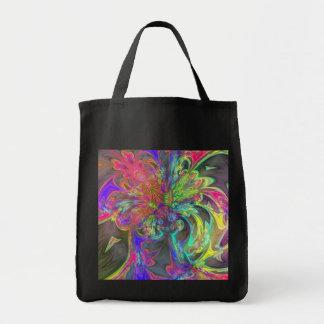 Bright Burst of Colour – Salmon & Indigo Deva Grocery Tote Bag