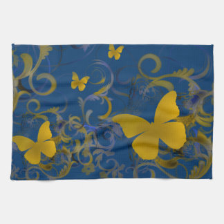 Bright Butterflies Tea Towel