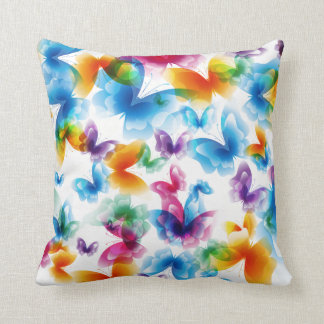 Bright Butterflies Throw Pillow