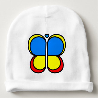 Bright Butterfly Baby Beanie