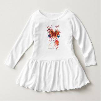 Bright butterfly collection with splashes dress