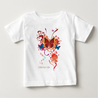 Bright butterfly collection with splashes tshirt