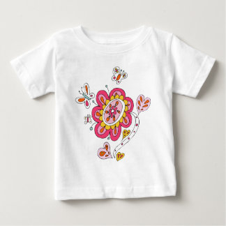 Bright Butterfly Flower Baby Tee