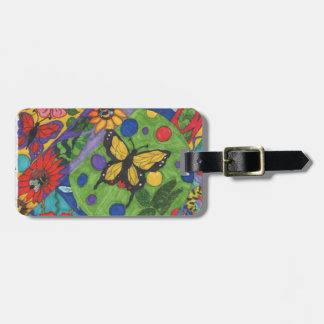 Bright Butterfly Flowers for Spring Luggage Tag
