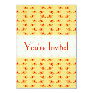 Bright Butterfly Pattern in Yellow and Red. Custom Invites