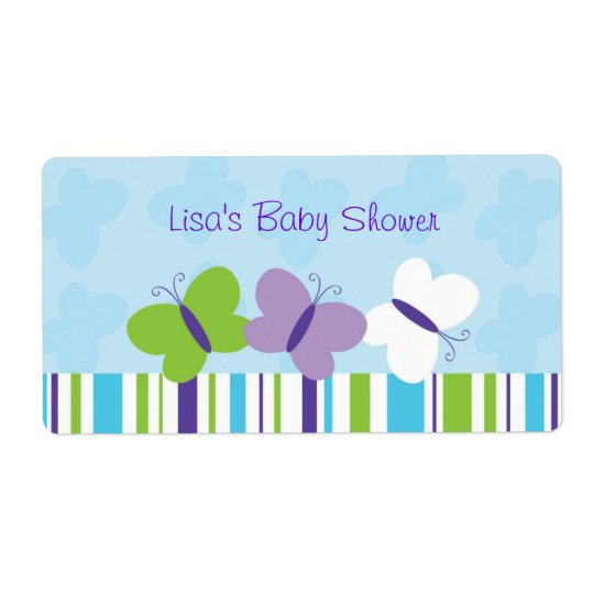Bright Butterfly Water Bottle Stickers Labels