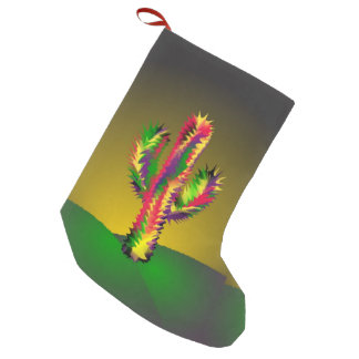 Bright Cactus Small Christmas Stocking