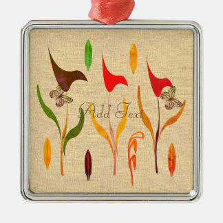 Bright Calla Lilly Watercolor Impression Christmas Ornament