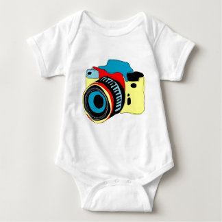 Bright camera illustration baby bodysuit