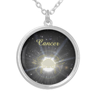 Bright Cancer Silver Plated Necklace
