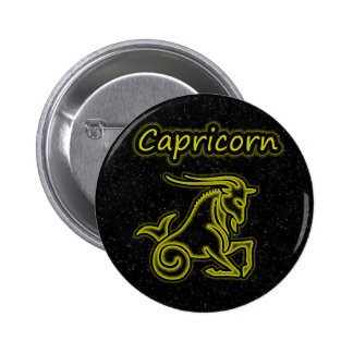 Bright Capricorn 6 Cm Round Badge