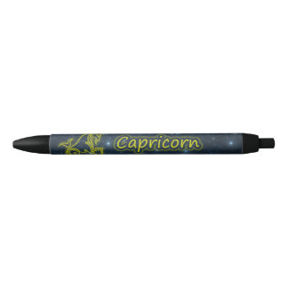 Bright Capricorn Black Ink Pen