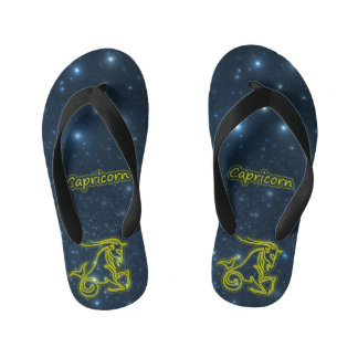 Bright Capricorn Kid's Flip Flops