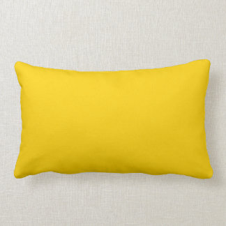 Bright Caution Yellow Color Trend Blank Template Pillows