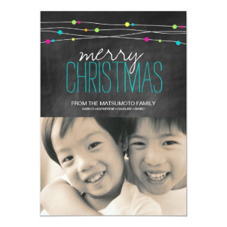 Bright Chalkboard Christmas Photo Cards