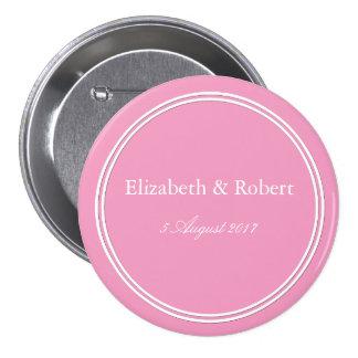 Bright Chalky Pastel Magenta Wedding Decoration 7.5 Cm Round Badge