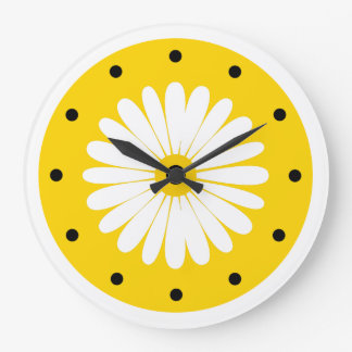 Bright Cheerful Floral Kitchen Clock