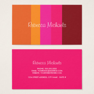 Bright & Cheery Color Block Business Cards