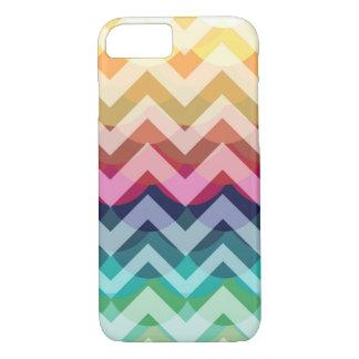 Bright Chevron Scallop Summer Pattern iPhone 7 cas iPhone 7 Case