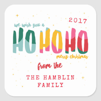 Bright Christmas Square Stickers