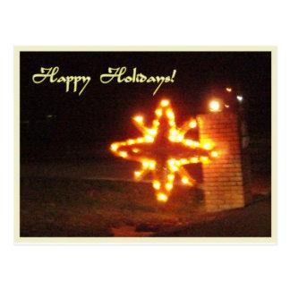 Bright Christmas Star Postcard