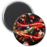 Bright Christmas Tree Trimmings Refrigerator Magnets