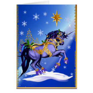 Bright Christmas Unicorn Card