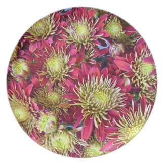Bright chrysanthemums pattern plate