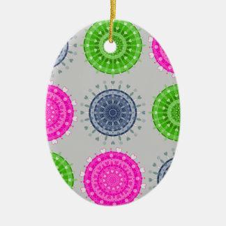 Bright Circular Pattern Christmas Ornament