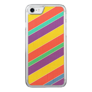 Bright Circus Color Stripes Carved iPhone 8/7 Case