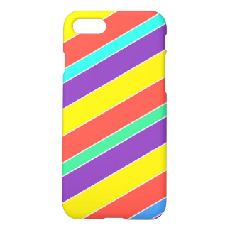 Bright Circus Color Stripes iPhone 7 Case