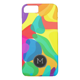 Bright Circus Colors Monogram Pattern iPhone 8/7 Case