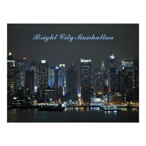 Bright City Manhattan Poster