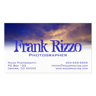 Bright Clouds Profile Card Business Card