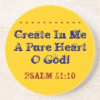 Bright coaster verse create a pure heart!