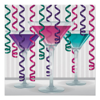 Bright cocktail and ribbon