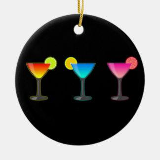 Bright Cocktail Trio Christmas Ornament