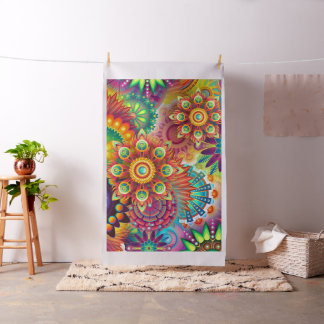 Bright Color Abstract Design Fabric Material