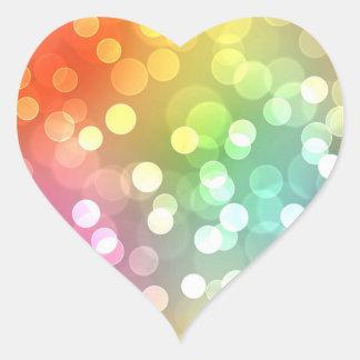 Bright color and confetti heart sticker