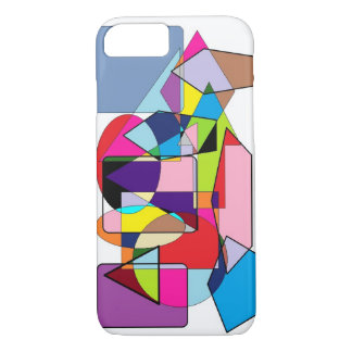 Bright color geometric shapes iPhone 7 case