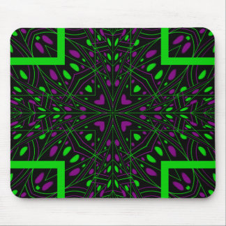 Bright color kaleidoscope mouse mat