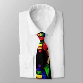 bright color stain glass look tie