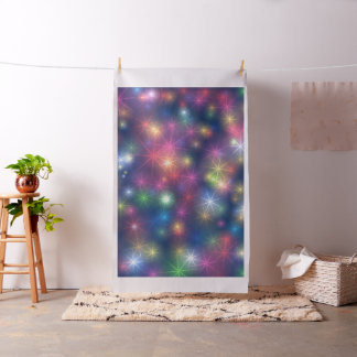 Bright Color Stars Abstract Design Fabric Material